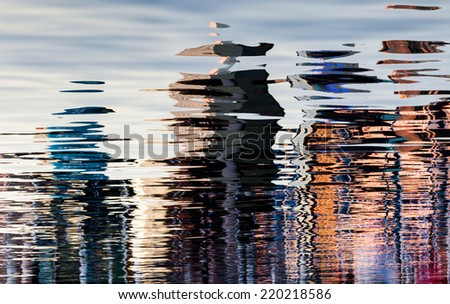 An abstract water reflection background - stock photo