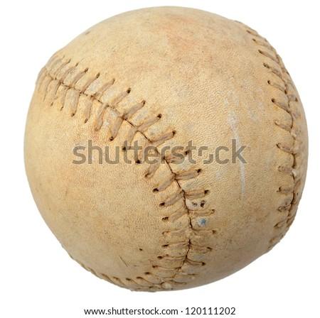 An aged baseball ball - stock photo