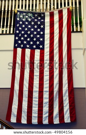 Hang Flag On Wall american flag hanging stock images, royalty-free images & vectors