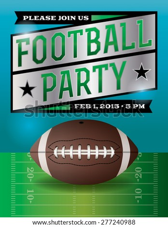 American Football Party Flyer Template Stock Illustration 277240988