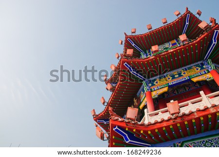 an ancient Chinese building, Jilin - stock photo