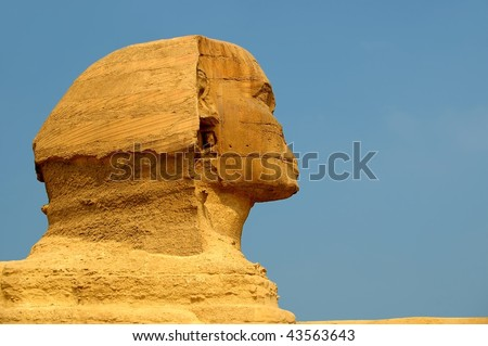 An ancient wonder of the world sphinx cairo egypt