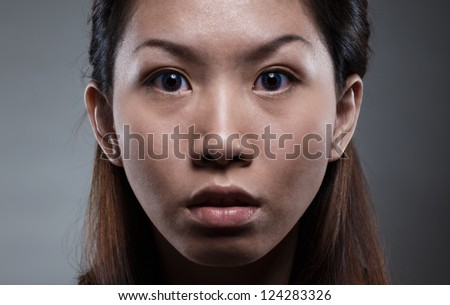 an angry lady - stock photo