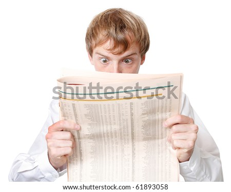 An annoyed junior business man - stock photo