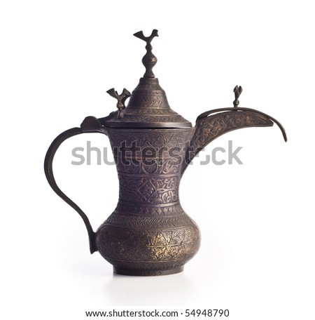An antique arabic coffee pot - stock photo