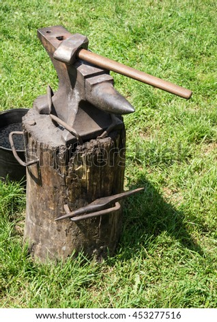 An anvil is a block with a hard surface on which hammer is struck. They are used for the manufacture of metal products