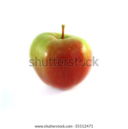 An apple on a white background - stock photo