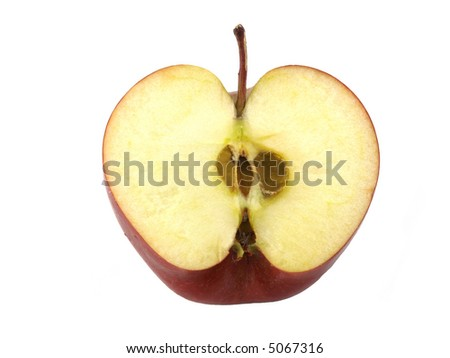 An apple variety called Red Chief isolated on white. - stock photo
