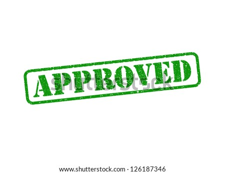 An Approved Stamp over a white background. - stock photo