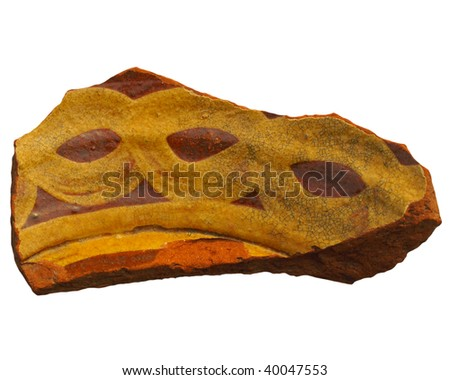 An archeological sherd fragment of ancient Greek pottery - stock photo
