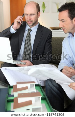 An architect's office - stock photo