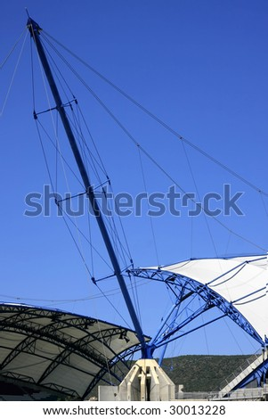 An architecture detail of a stadium