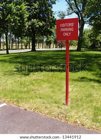 an area designated for visitor parking - stock photo