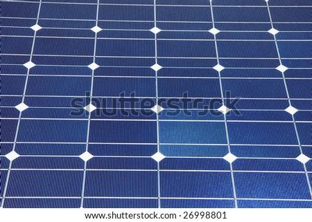 An array of photovoltaic solar panels. Alternative energy - stock photo