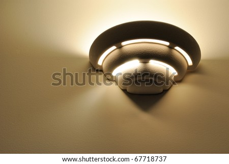 An art deco wall light fixture.