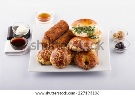 An Assortment Of Fresh Pastery - stock photo