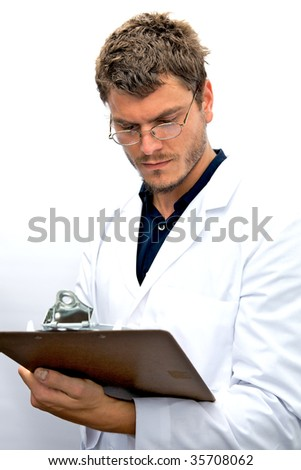 An attractive scientist with an honest face - stock photo