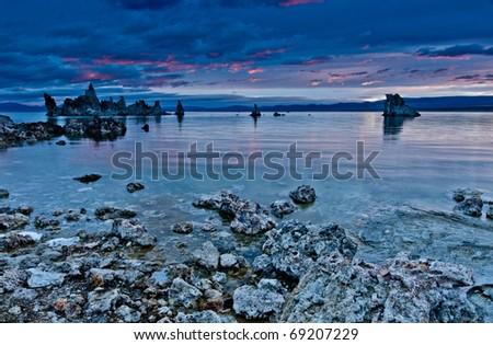 An autumn morning at Mono Lake - stock photo