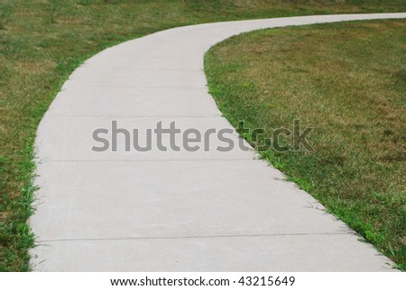 An curving pathway