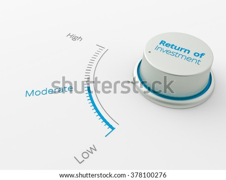An 3d made metal switch on a white background - stock photo