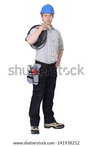 An electrician. - stock photo