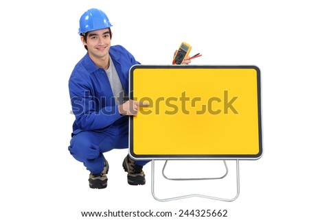 An electrician - stock photo