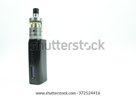 An Electronic Cigarette (tank) isolated on white background - room for text