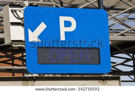 An Electronic Parking Sign - stock photo