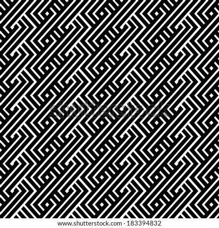 An elegant black and white pattern  - stock photo