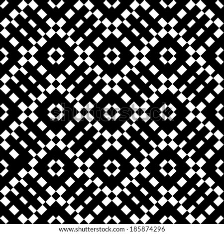An elegant black and white pattern  - stock photo
