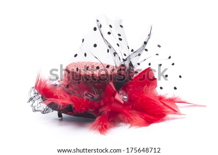 an elegant headdress for women, for an important event - stock photo
