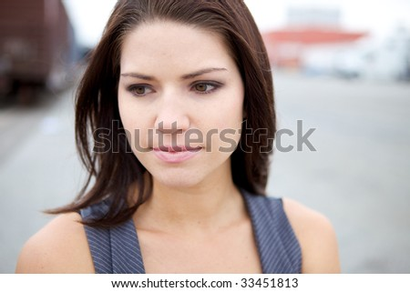An Emotional girl Looking at the Camera - stock photo