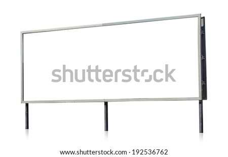An empty banner isolated on white background