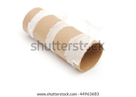 an empty bath towel - stock photo