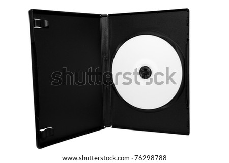 an empty cd in a cd jacket isolated on white