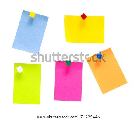 an empty color notes isolated on a white background