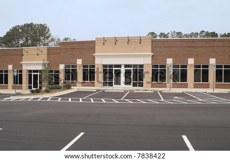 An empty commercial building ready for occupancy. - stock photo