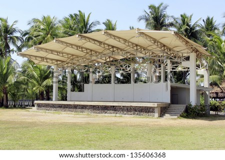 Empty Outdoor Stage Park Stock Photo 135606368 - Shutterstock