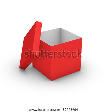 An empty red box - stock photo