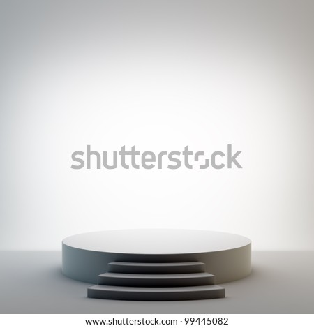 An empty round stage set - stock photo