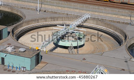 An empty sewage pool. - stock photo