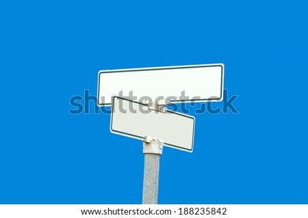 An empty sign board with copy space for text - stock photo