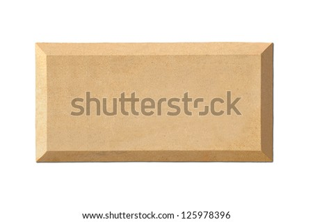An empty slab -name plate - stock photo
