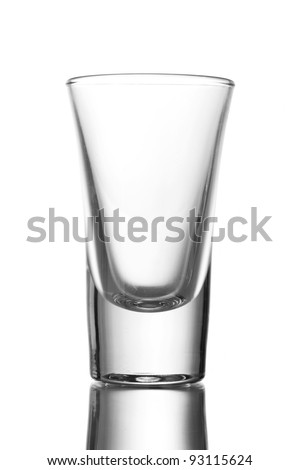 An empty wineglass isolated on white - stock photo