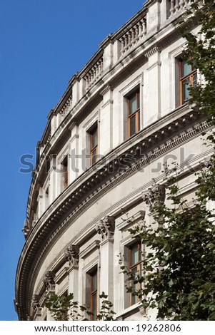 an example of regency architecture in central london - stock photo
