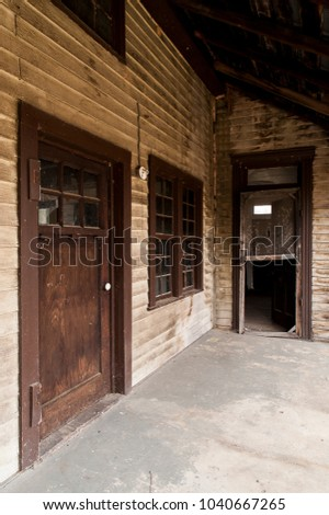 Exterior View Doors Historic Abandoned Dudley Stock Photo (Royalty Free) 1040667265 - Shutterstock & Exterior View Doors Historic Abandoned Dudley Stock Photo (Royalty ...
