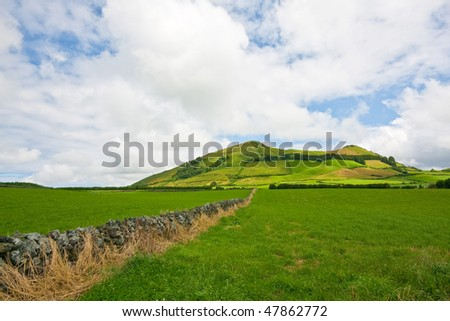 An extinted volcano in Sao Miguel island Landscape - Azores island - Portugal - Atlantic ocean - Europe - stock photo
