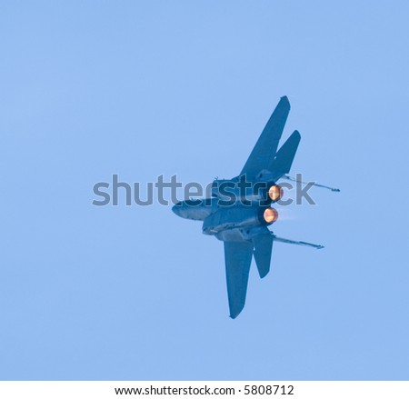 An F-15 fighter jet - stock photo