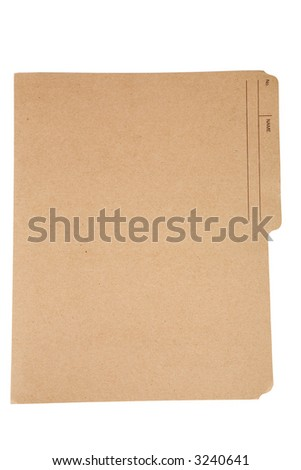 an file folder with white background - stock photo