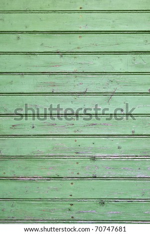 An green painted wall of the house - stock photo